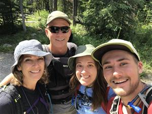 My family and I hiking in Montana