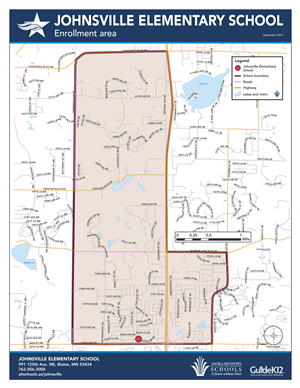 Johnsville enrollment area map