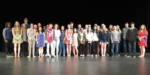 Approximately 30 of the 76 Students who earned the presidential volunteer service award. Grades 9-12