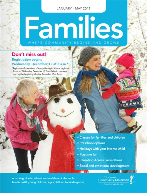 Families catalog - winter 2018-19