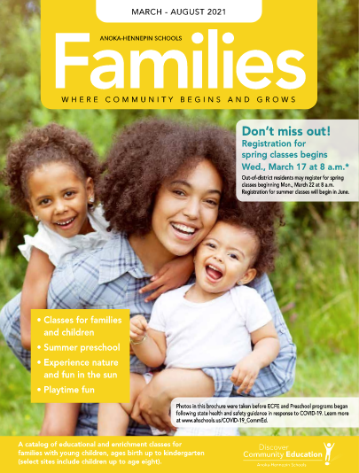 Families spring and summer catalog