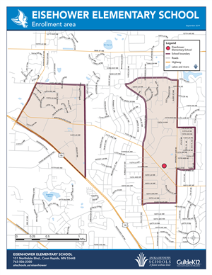 Eisenhower enrollment area map