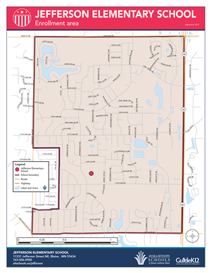 Jefferson enrollment area map