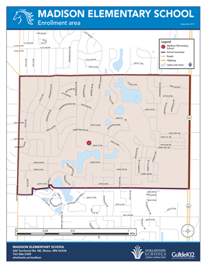 Madison enrollment area map