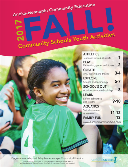 Catalog: Youth activities and classes, fall 2017