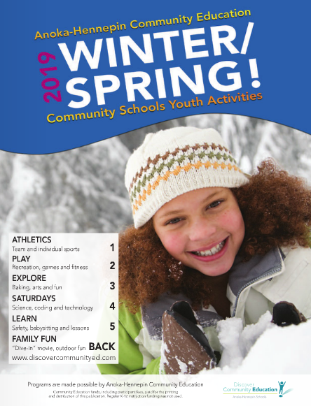 Winter/Spring catalog for youth