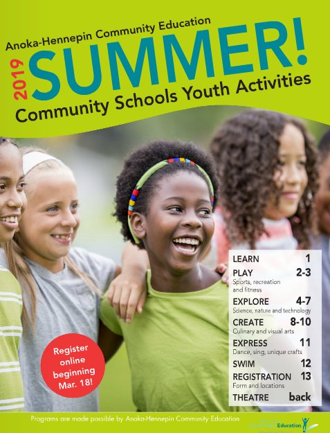 Summer youth activities and classes catalog