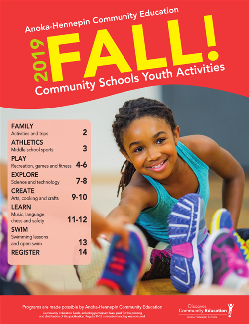 Fall catalog youth activities and classes