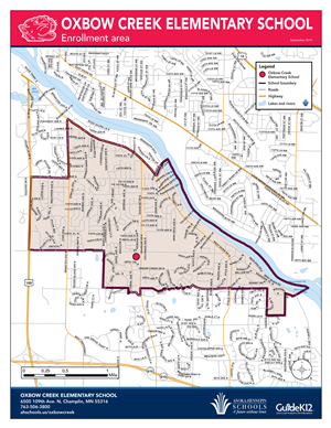 Oxbow Creek enrollment area map