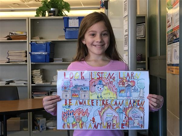 5th Grade Fire Prevention Poster Goes to State