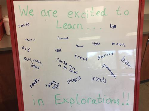 We are excited for Explorations!