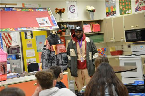 Gerald Edwards visits Northdale