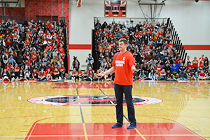 Kevin Atlas speaks to students at CRHS on Sept. 6