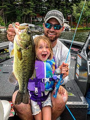 Matt Johnson's daughter Callie reels in a nice bass