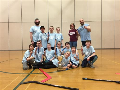 Jefferson Elementary first place floor hockey