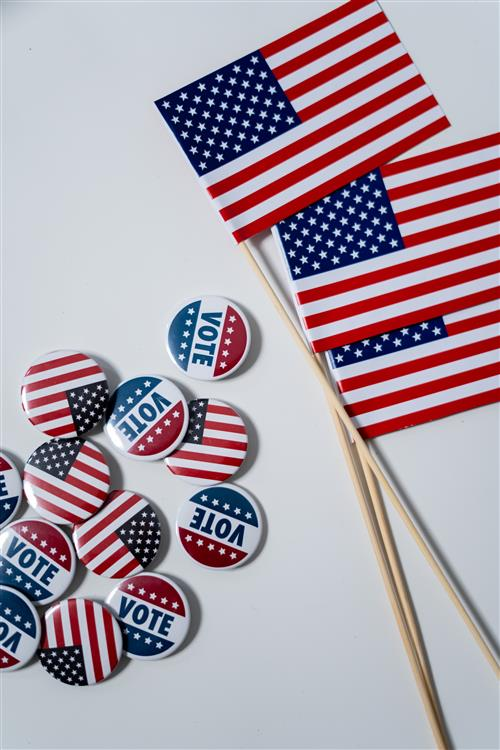 Vote buttons and flags
