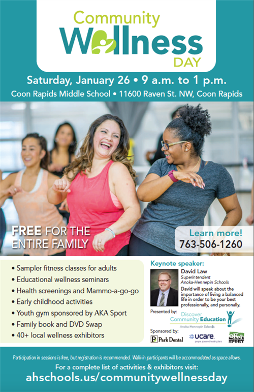 Community Wellness Day flyer