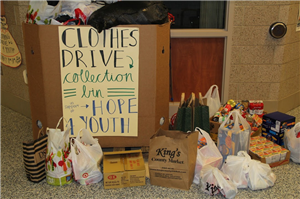 Students collected over $2,400 and basic necessities for homeless youth in need