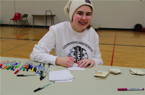 LEO Club students led student service projects at CRHS Feb. 15.