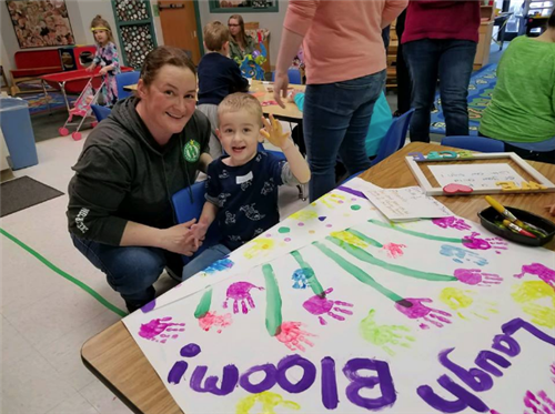 "Families celebrate ""Week of the Young Child"" in Anoka-Hennepin Schools Preschool and ECFE classes"