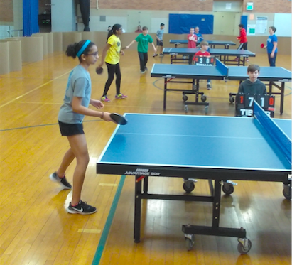 Students compete in State Table Tennis Tournament at Roosevelt Middle School