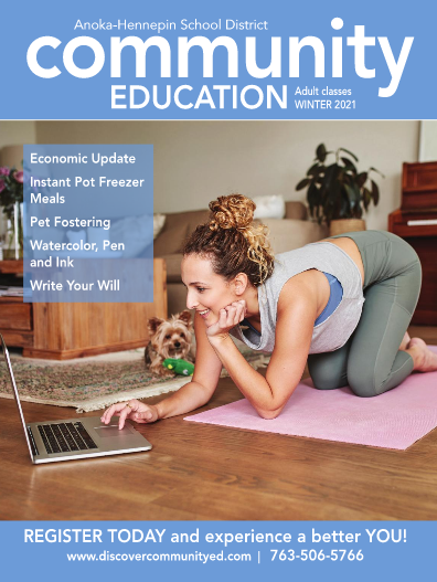 Winter 2021 adult learning community education catalog