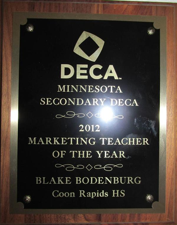 2012 MN DECA Marketing Teacher of the Year