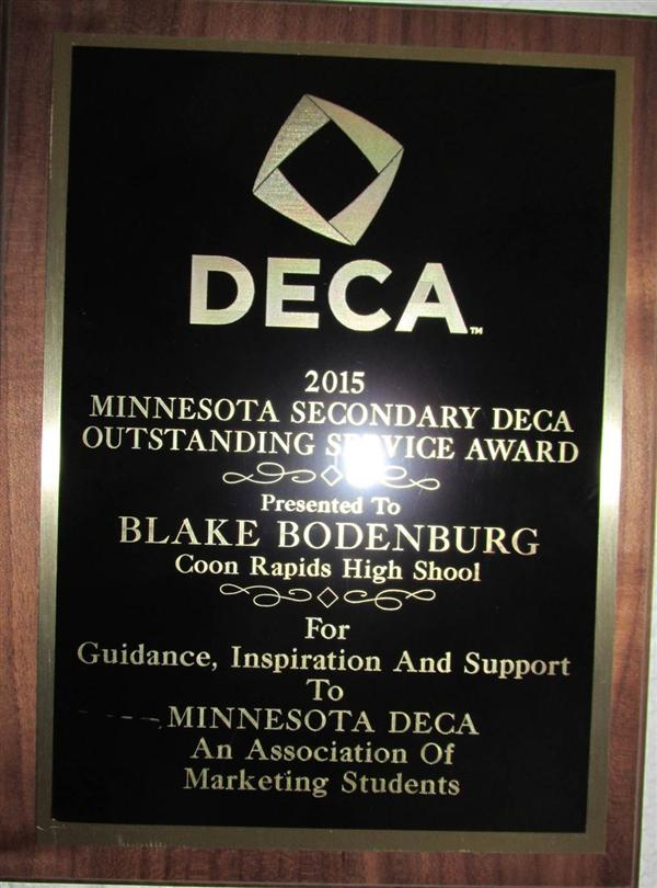 2015 Outstanding Service MN DECA
