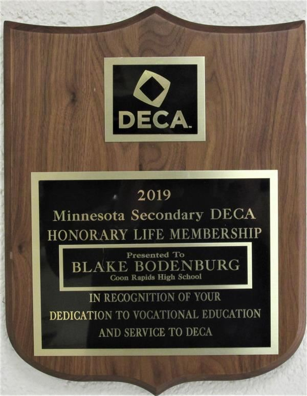 2019 Minnesota DECA Honorary Life Membership