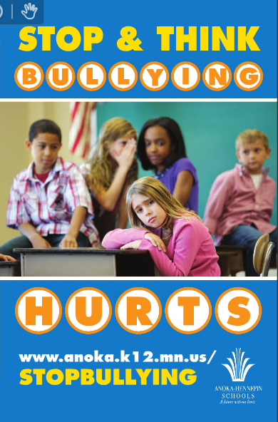Stop & Think - Bullying Hurts elementary brochure