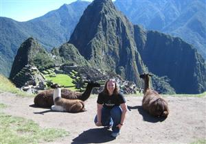Mrs. Polloway at Machu Picchu