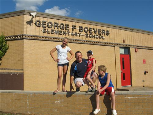 Me and the kids at Boevers Elementary in Tulsa, OK
