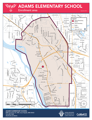 Adams enrollment area map