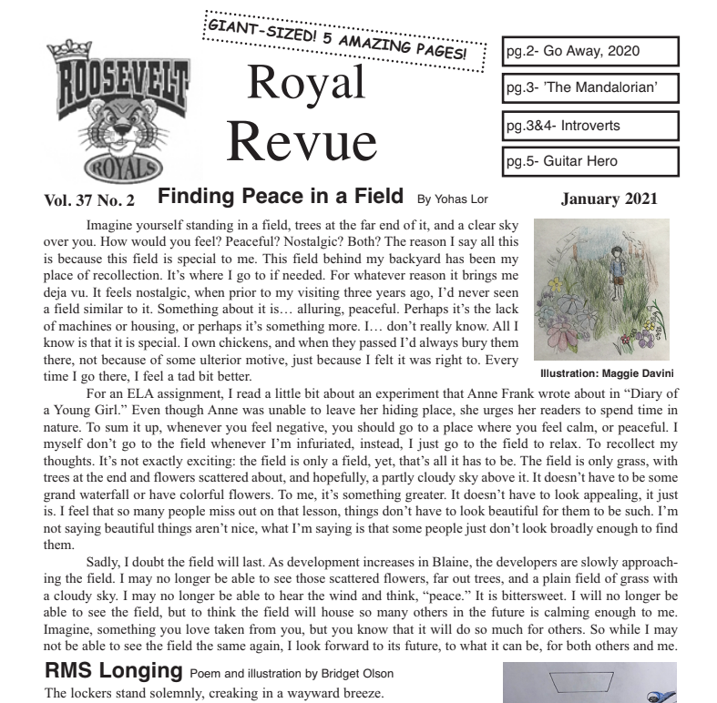RMS Royal Revue Newspaper