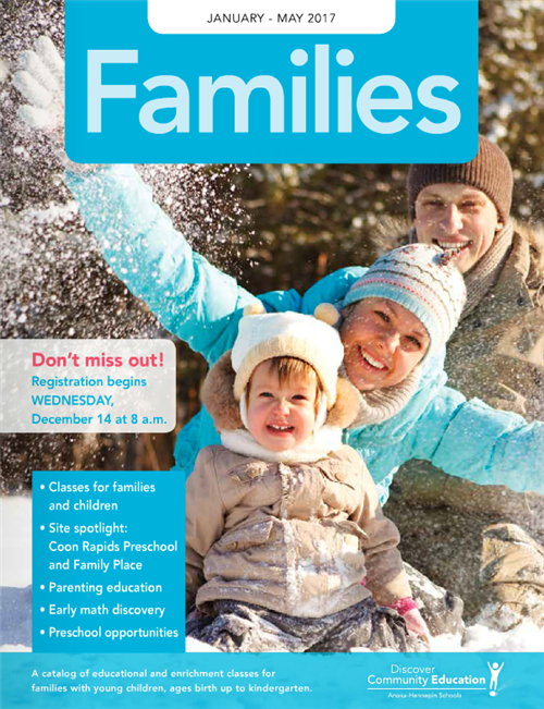 Families catalog winter 2017