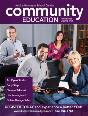 Adult community education catalog, classes and activities - Winter 2017