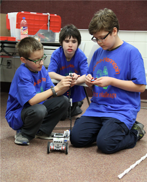 Blue team build and test robot