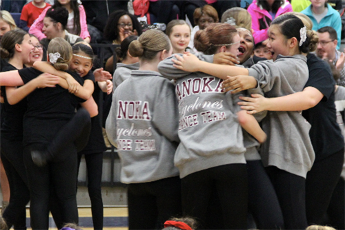 Anoka Middle School dance teams celebrate dance competition sweep