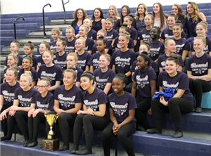 Roosevelt MS dance team poses for team photo
