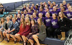 Northdale MS dance team posese for photo