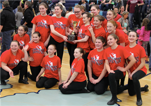 Coon Rapids MS team poses for photo after dance competition