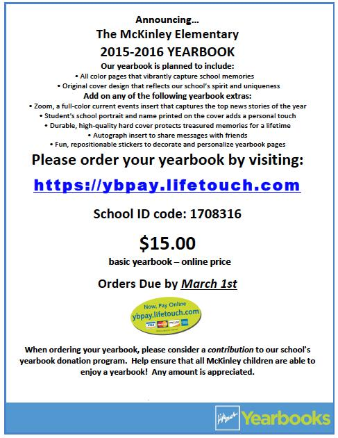 Yearbook order / Online Ordering